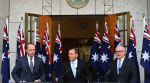Tony Abbott with 10 flags